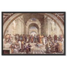 Freskó Festmény Festészet Képzőművészet Az Athéni Iskola Raffaello Sanzio Poszter