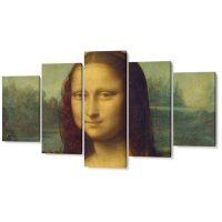 Falikép Mona Lisa Festmény Leonardo da Vinci Többrészes Vászonkép (5 Részes)