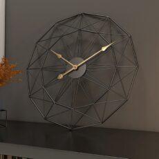 Minimál Dekor Falióra, Nagyméretű. Modern Stílus, Fekete, 50 cm