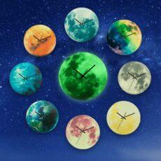 Világító Falióra Nagyméretű Bolygó Gyerek Falióra