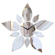 Tükrös Falióra Nagyméretű Dekor Óra Falra Virág Levelek